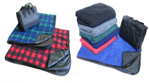 Water Proof Fleece Picnic Blanket - Plaids and solids