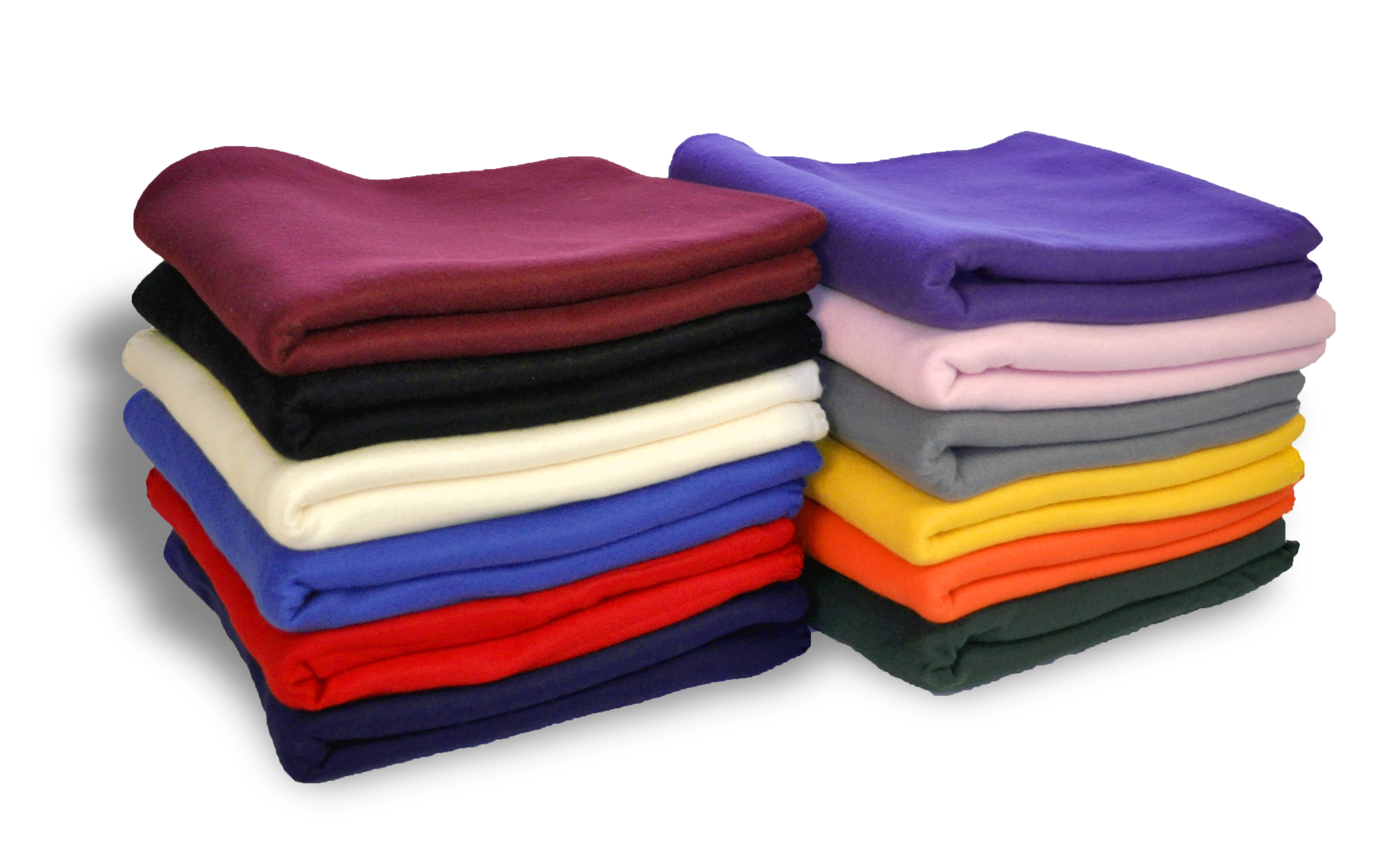 EMBROIDERED 100% Polyester Promotional Fleece 50 x 60 Pill Resistant, 200 gsm 36 pcs per case