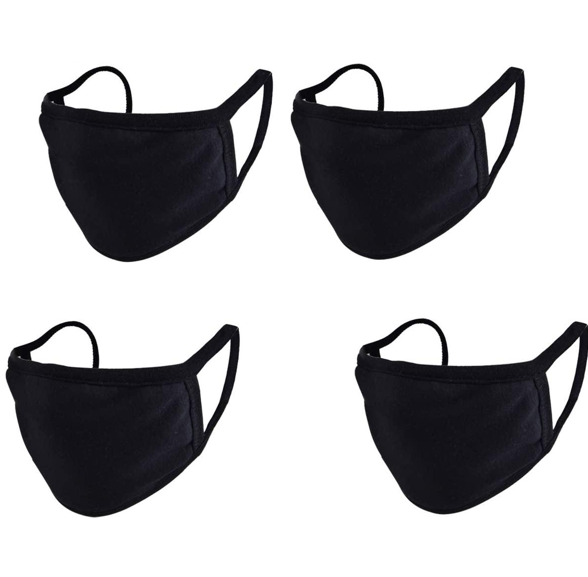 100% Cotton Black Face mask - Plain