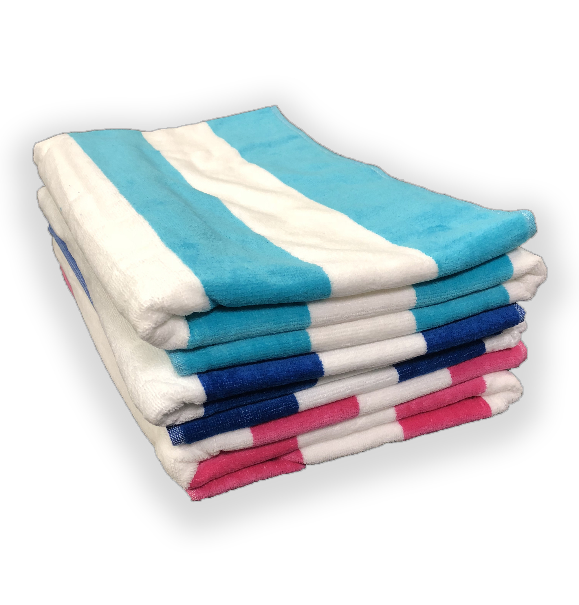 EMBROIDERED 35x70 Terry Beach Towels Cotton Velour Cabana Stripe 18.75 Lbs per Dz. 100% Cotton.