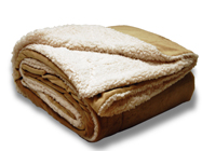 "EMBROIDERED Over-Sized Micro Mink Sherpa Blankets 60""x 72"""