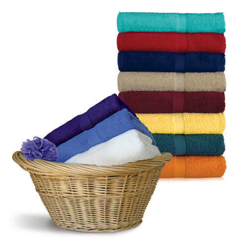 24x48 Bath Towels by Royal Comfort (Assorted Colors), 9.0 Lbs per dz, Combed Cotton. 24 pcs per case.