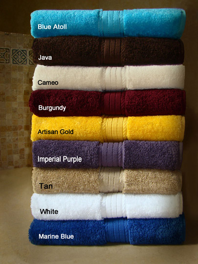 SALE ! 30x54 Luxurious Bath Towels (assorted colors) By Crown Jewel , 18 Lbs Per Dz, 100% Giza Egyptian Cotton. North America Made. 24 pcs per case.