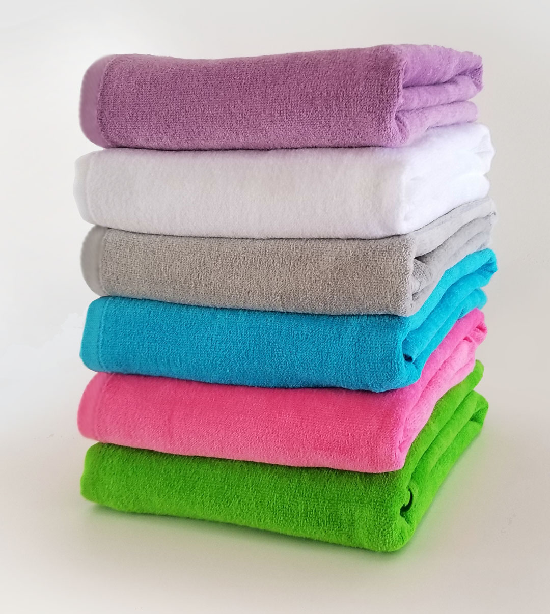 28x58 Super Economy Light Weight 9 Lbs/ Dz Terry Beach Towels. (Assorted Colors)