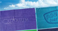 30x60 1 Color Print - SILKSCREEN YOUR DESIGN OR LOGO 100% Cotton, 30x60 Terry Velour beach towels. 11.0 Lbs/ Dz.