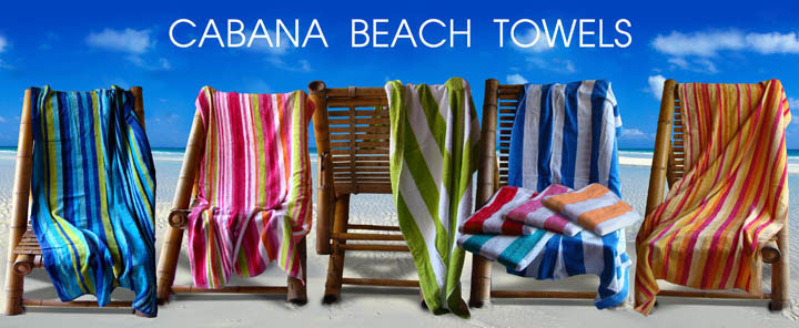 30x62 Terry Beach Towels Cotton Velour Cabana Stripe 11 lbs per doz, 100% Cotton.