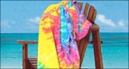 30x60 Terry Beach Towels Cotton Velour Tie Dye, 11.5 lbs per dz.
