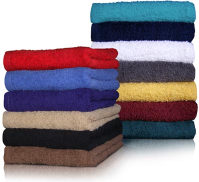 SPECIAL EMBROIDERED Camp Towels 16x27 Economy Hand Towels by Royal Comfort. 2.7 Lbs per/ dz. weight.