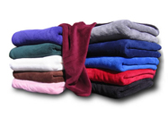 EMBROIDERED Micro-Plush Coral Fleece Throws 50 x 60 , 280 g/sq . 17.5 Lb/Doz.