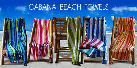EMBROIDERED 100 % Cotton 30x62  Cabana Stripe beach towel 11 lbs per doz, 100% Cotton.