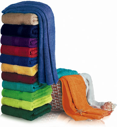 EMBROIDERED 100 % Cotton, 34x70 Terry Cotton beach towels by Royal Comfort. 19.0 Lbs/ Dz, 100 % Ring Spun cotton.