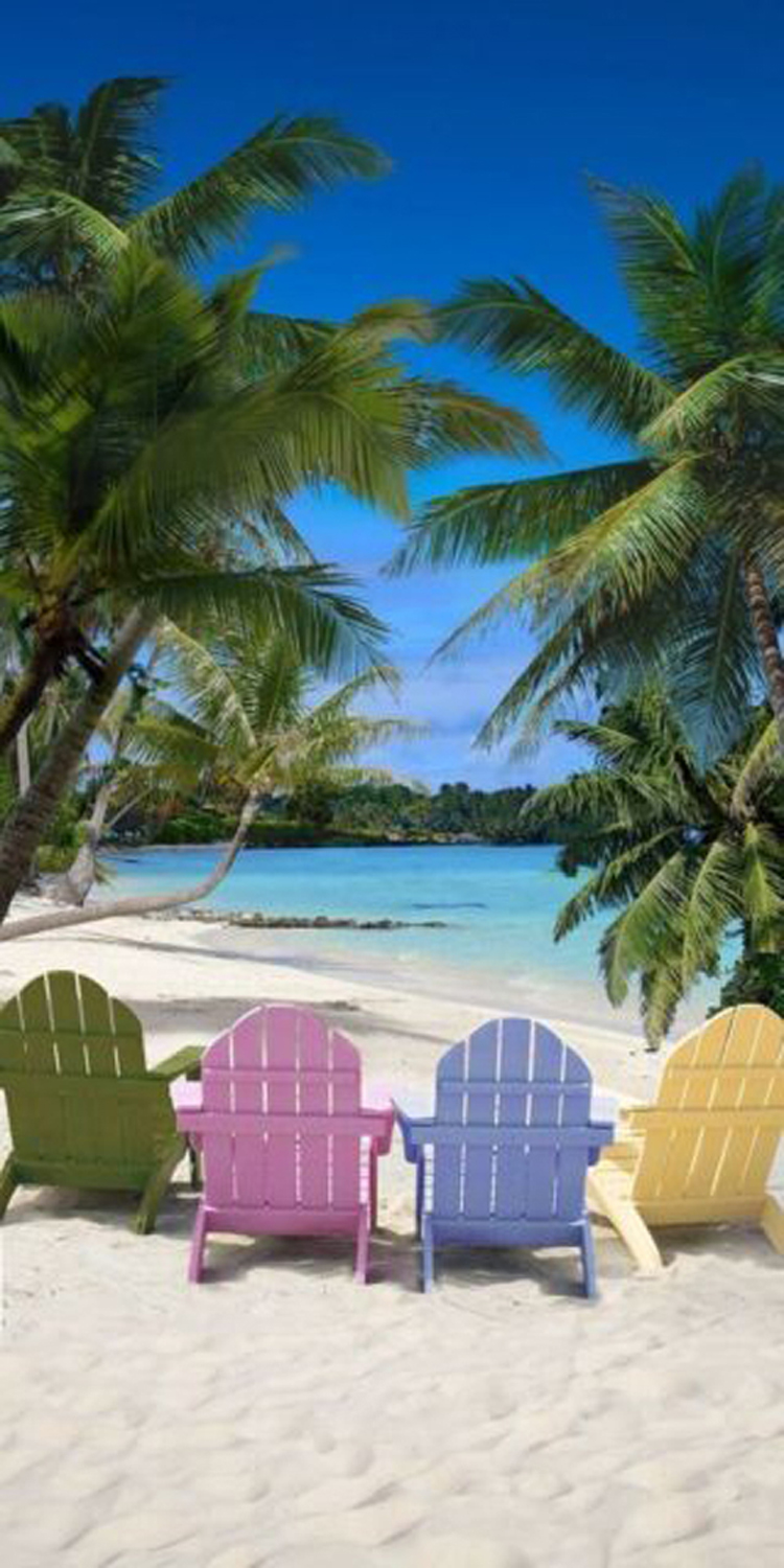 30x60 Tropical Chairs Fiber Reactive Beach Towel.