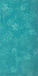 30x60 Solid Turquoise Hibiscus Fiber Reactive Jacquard Beach Towel.