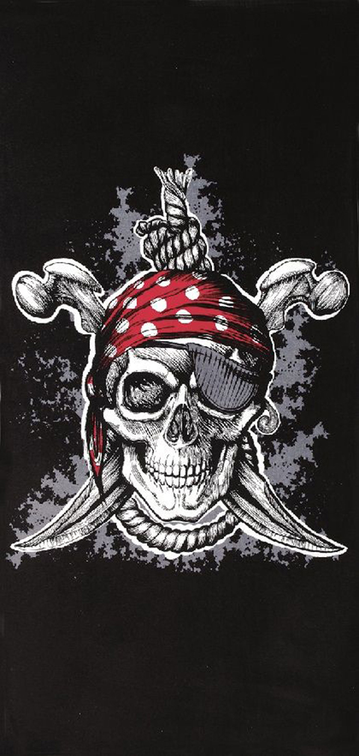 30x60 Pirate Fiber Reactive Beach Towel.