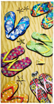30x60 Sandals in the Sand Fiber Reactive Beach Towel.