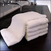 EMBROIDERED  16x27 Hotel Grade Hand Towels, 3.0 lbs per dz. Pack 120 per case, White