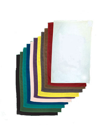 15x18 Blank Rally Towel, terry velour 1.2 lbs per dz. Pack 432 pcs per case. (Assorted Colors)