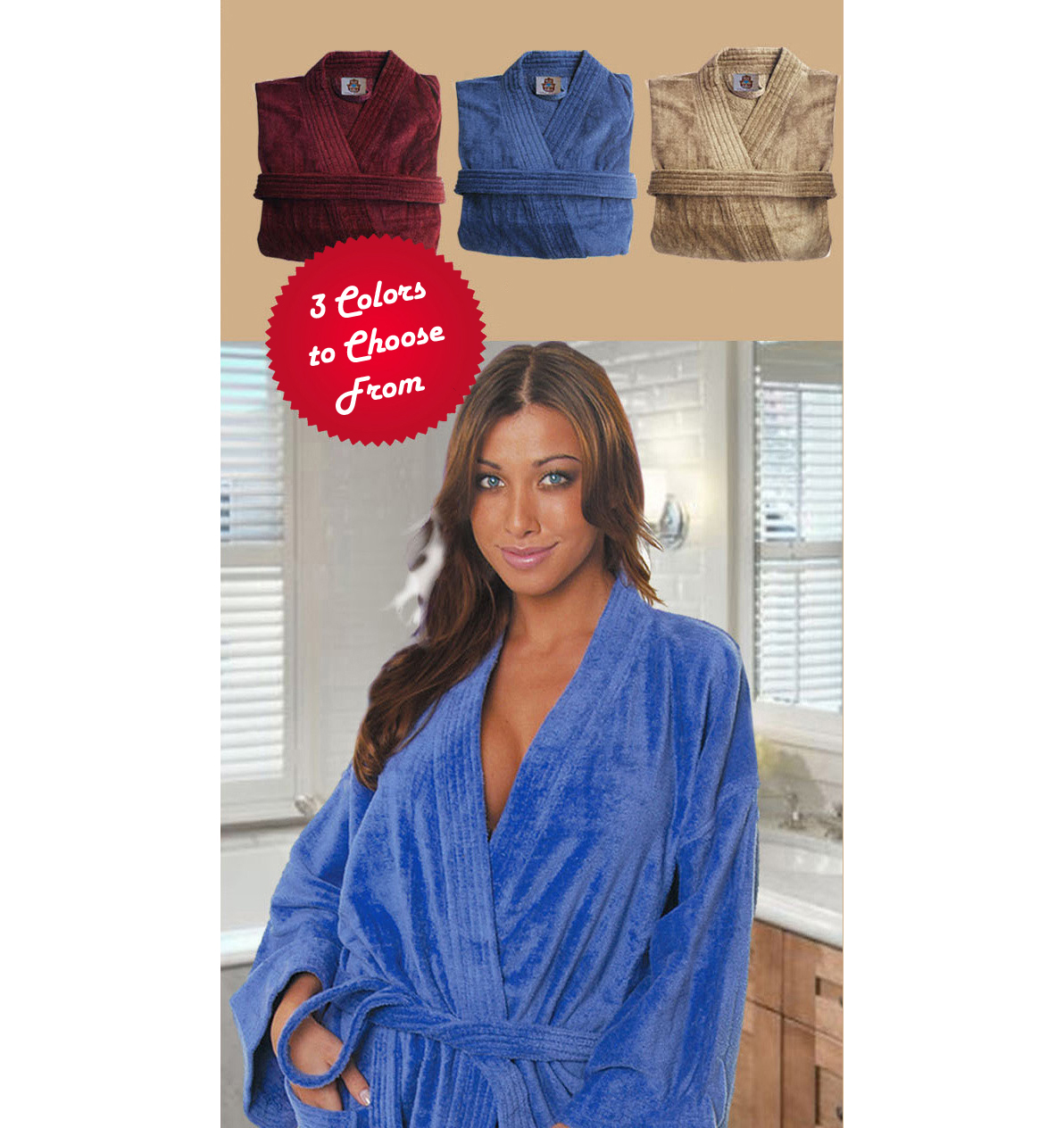 BLACK FRIDAY SPECIAL ! Cotton Love Luxurious Kimono Bath Robes ON SALE !