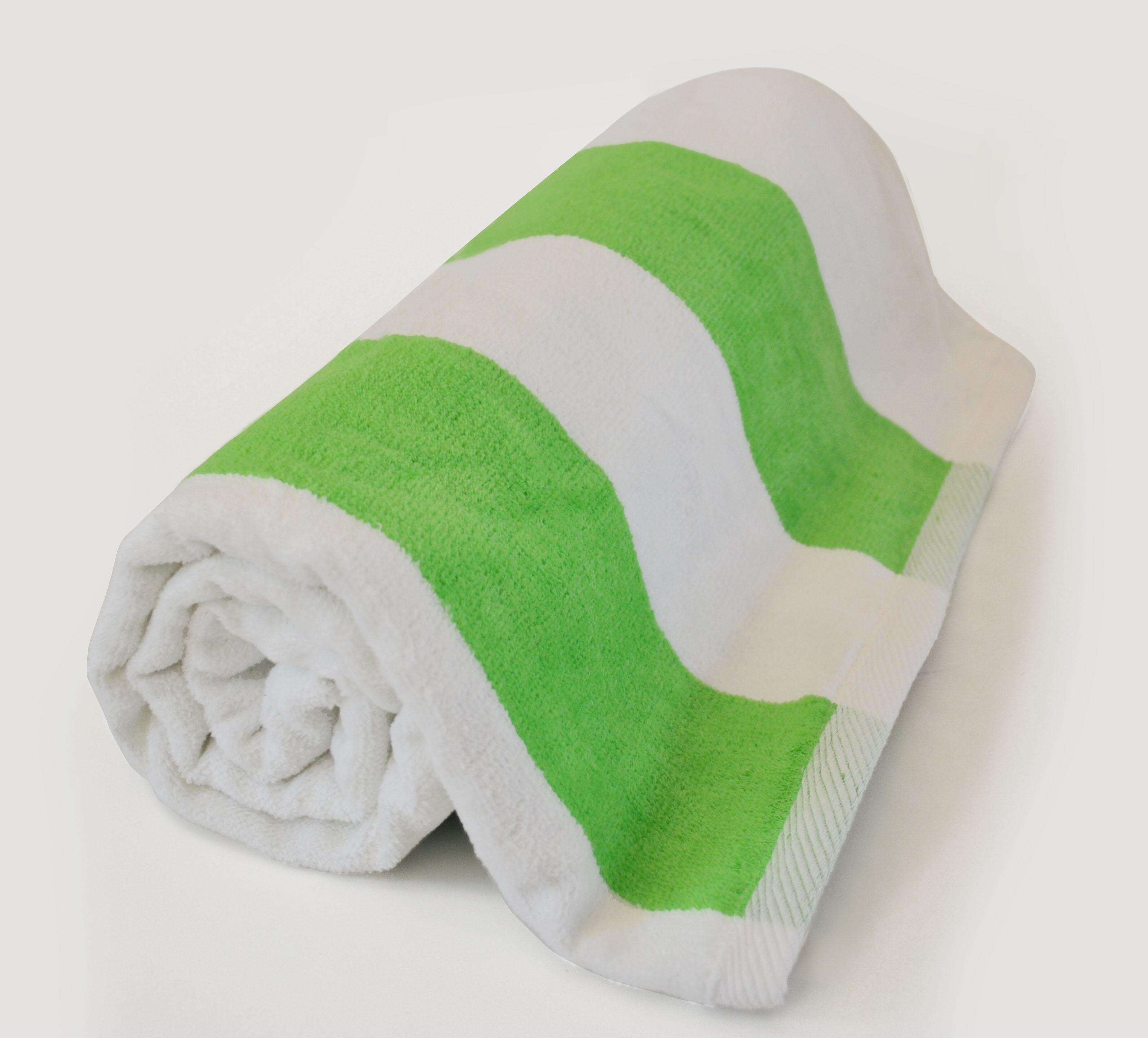 TowelsOutlet.com - 30x62 Terry Beach Towels Cotton Velour ...