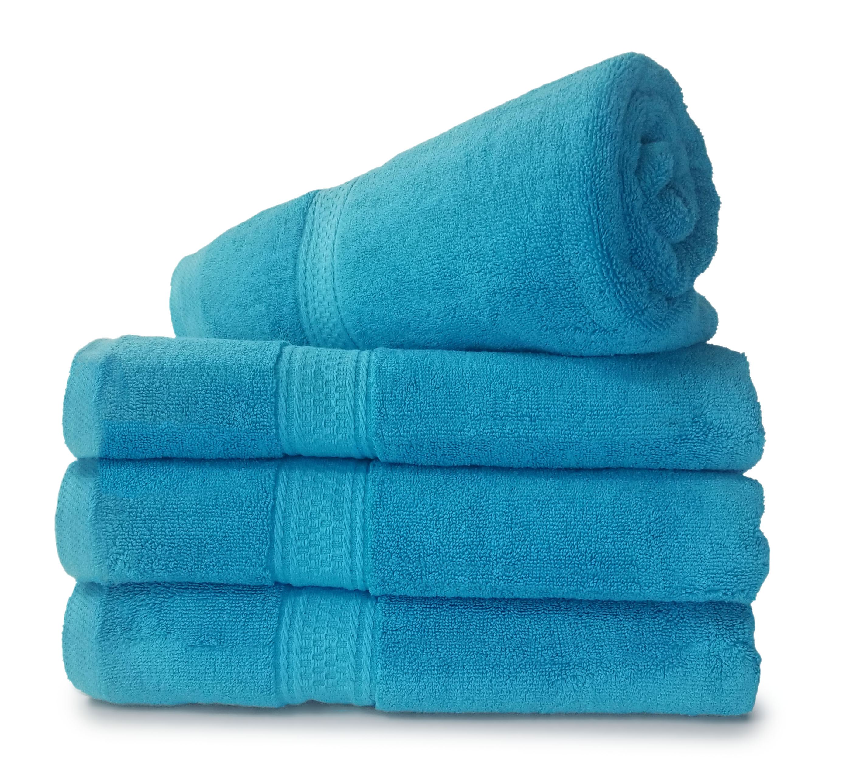 4 PC Set SHIPPING INCLUDED  27x54 Bath Towels by Royal Comfort Woven   RING SPUN COTTON  17.5 Lbs